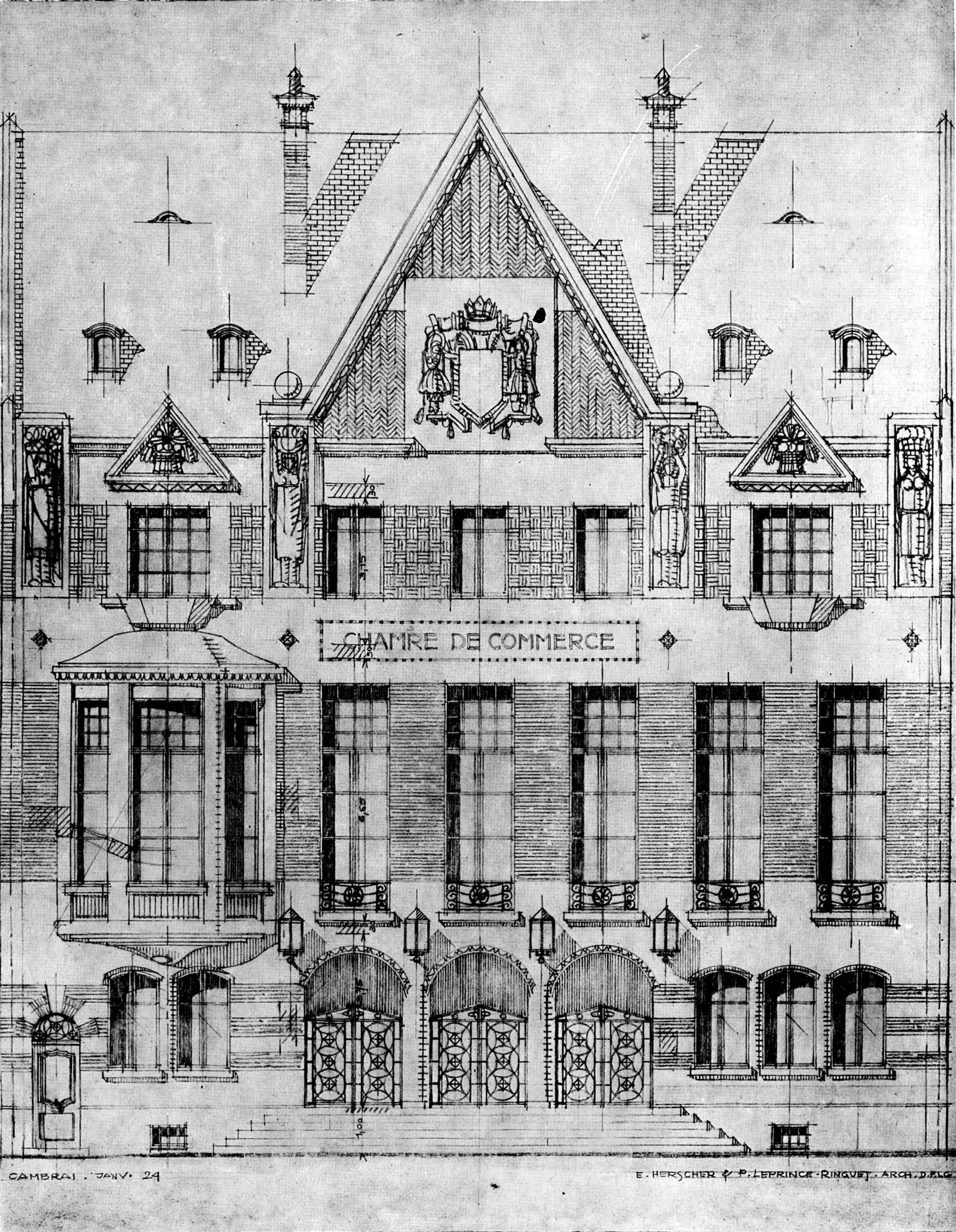 La chambre de commerce de cambrai vitrine de la reconstruction r ussie d une ville du nord - Chambre du commerce strasbourg ...