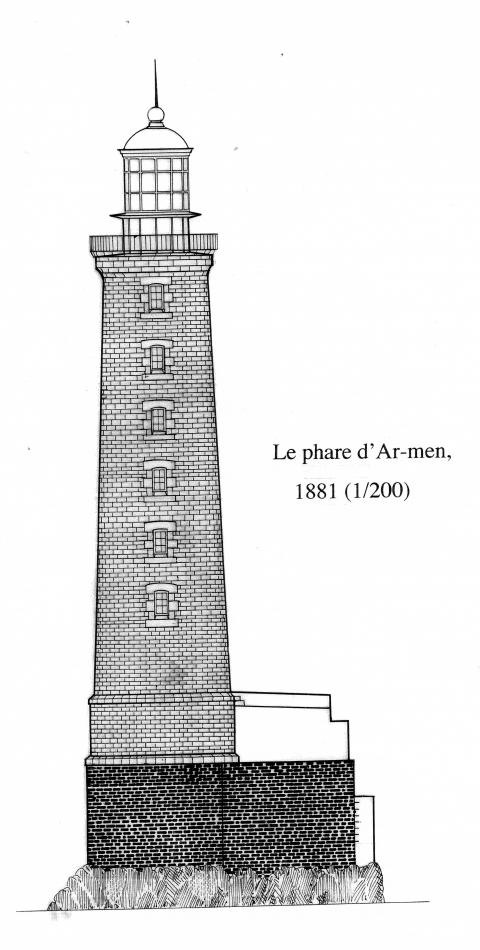 Ill. 4: Élévation du phare d'Armen en 1881