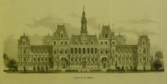 Le concours pour la reconstruction de l\'hôtel de Ville de Paris ...