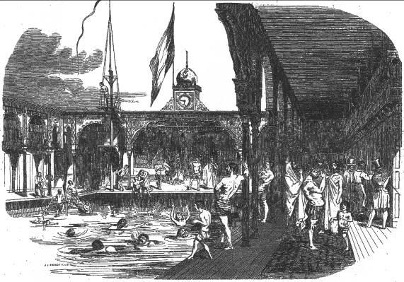 Les baignades en rivi re d le de france des premiers for Aux bains paris
