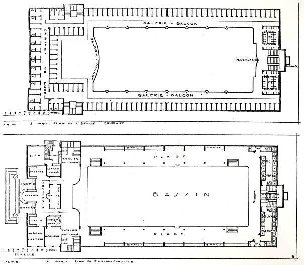La piscine de pantin 1935 1937 une r alisation architecturale et sociale d envergure - Dimension d une piscine olympique ...