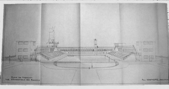 Ill. 3 : École De Natation, Vue Du0027ensemble Des Bassins