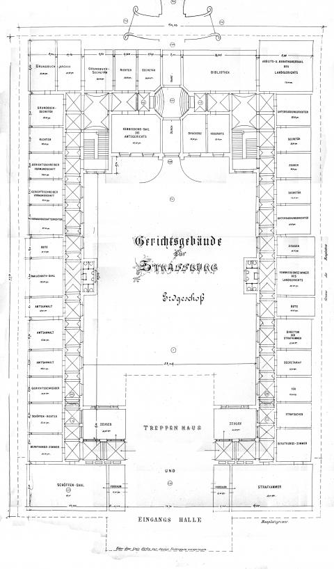 Fiat Justitia Le Palais De Justice De Strasbourg 1892 1898