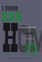 Couverture L'Homme, 2018,225