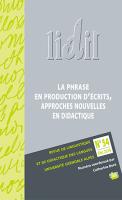 Lidil, n° 54 (2016)