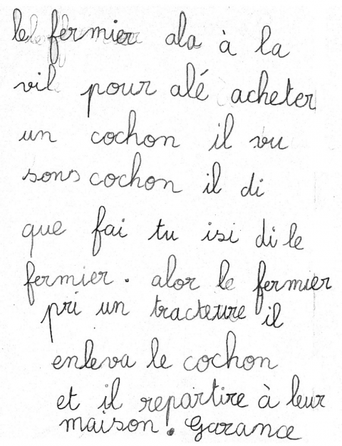Texte French Reading: