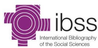 The International Bibliography of the Social Sciences (IBSS)