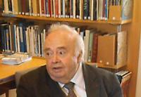 Michel Vovelle, au Centre de ressources Albert Soboul,  Musée de la Révolution française (septembre 2014)