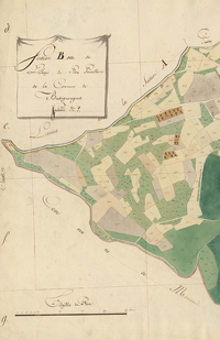 Buzignargues – Cadastre napoléonien : plan de la section B2 du village (1810)