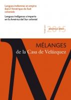 Couverture Mélanges Casa de Velázquez 2015 45-1