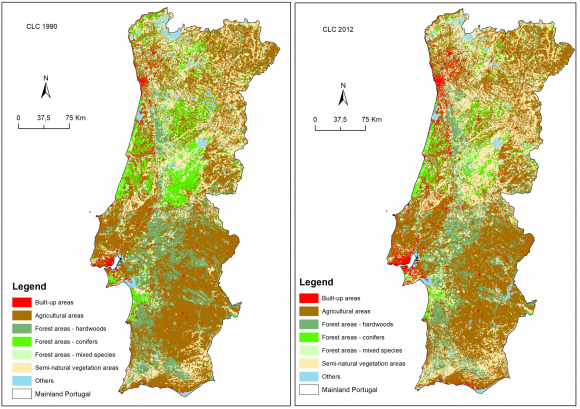 Changes In Mainland Portuguese Forest Areas Since The Last Decade