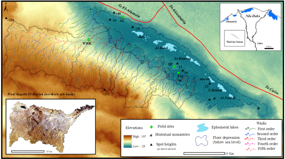 Geomorphological imprints of episodic surface runoff in deserts