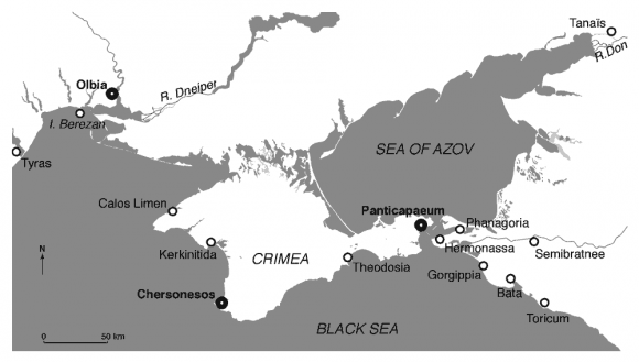 Relative Sealevel Changes And Submersion Of Archaeological Sites - Crimea black sea map