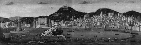 Fig.1 - Anonymous, View of Naples. The Tavola Strozzi, 1473