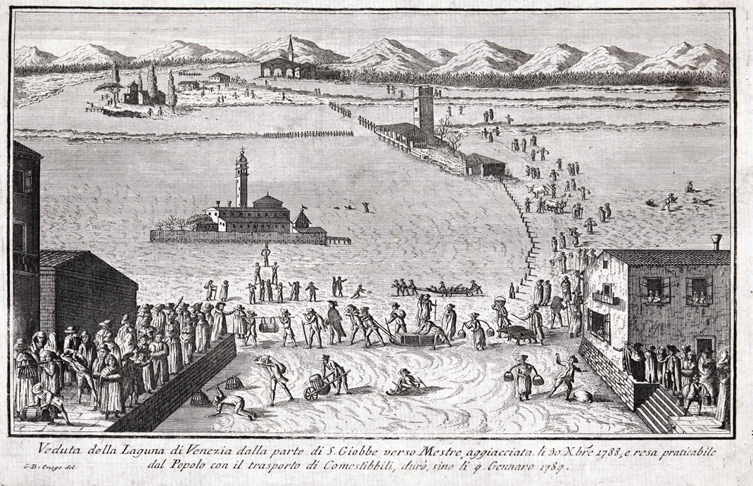 When The Lagoon Was Frozen Over In Venice From Ad 604 To 2012