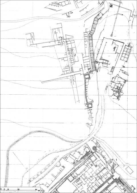 Fig. 4 - Elea-Velia. Quartiere Occidentale. Planimetria degli scavi Napoli.