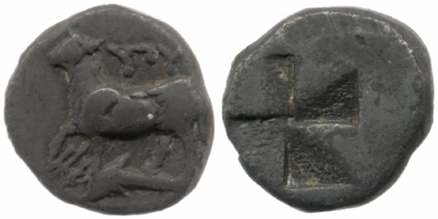 Fig. 5 - Silver coin of Byzantion, early fourth century. British Museum CM1862,0719.3Alan Johnston2013-04-30T11:16:00. Courtesy of the Trustees of the British Museum.