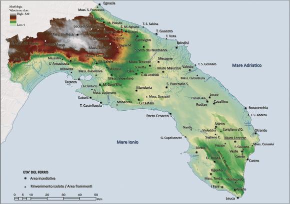 Cartina Igm Puglia.Muro Leccese Nell Eta Del Ferro Forma E Organizzazione Insediativa Di Un Abitato Indigeno Della Puglia Meridionale