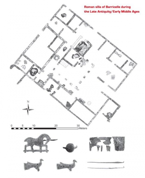 Metalworking in the 'Post-Classical' phases of Roman villas