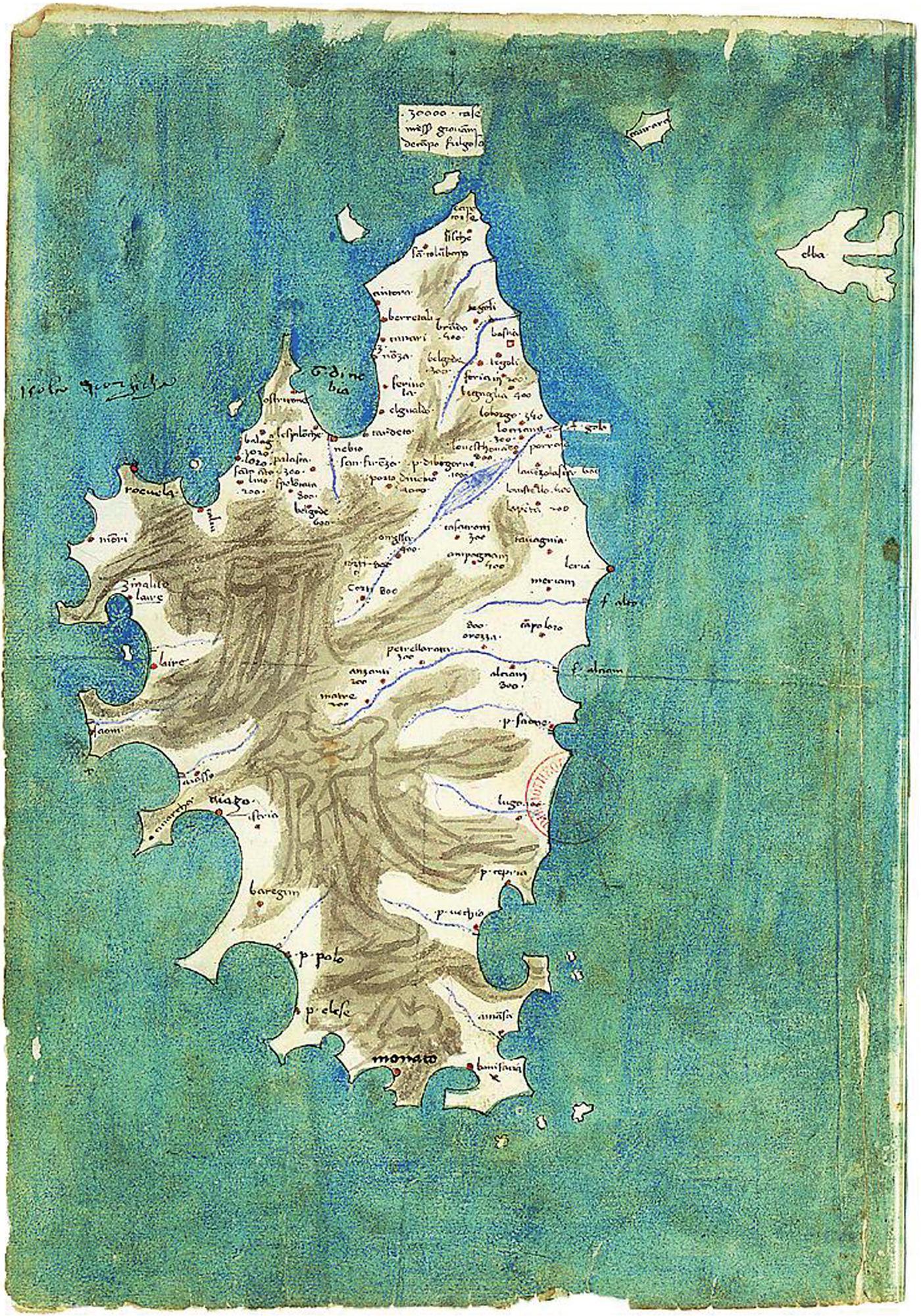 Carte Corse Orezza.Les Premieres Cartes Chorographiques De La Corse A La Fin Du