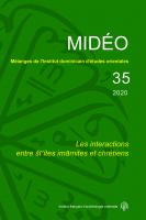 Couverture du MIDÉO, n° 35, 2020