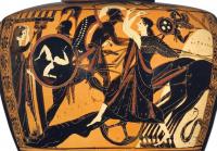 Achille traînant le corps d'Hector derrière son char