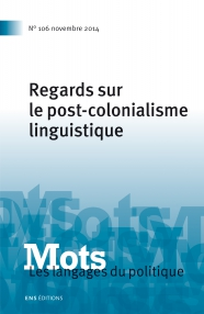 COLONIALISME ET LINGUISTIQUE PDF DOWNLOAD