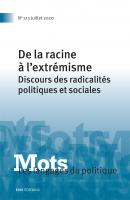 Couverture Mots. Les langages du politique