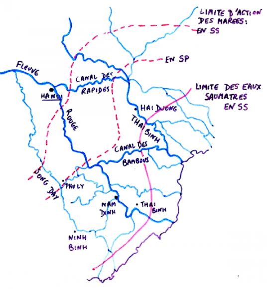 Red River Delta Fifty Years Of Change - Rivers of vietnam map