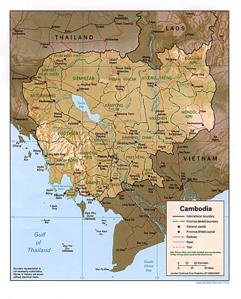 Map 1: Map of Cambodia