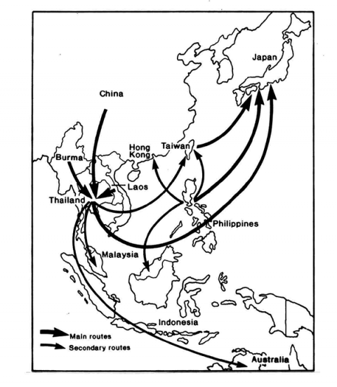 Fig. 3. Southeast Asia: Trafficking of Women and Children