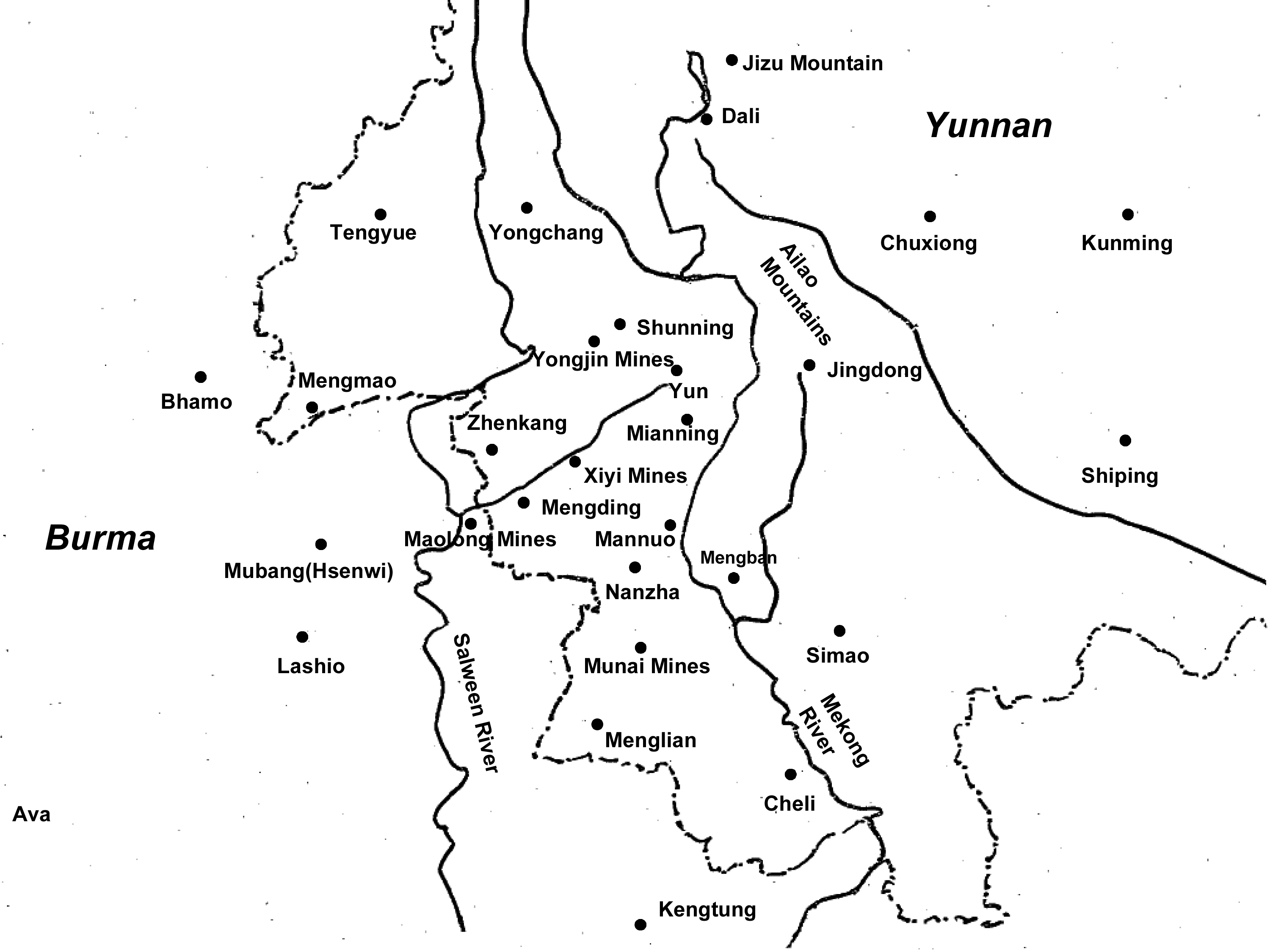 shaping of the yunnan burma frontier by secret societies since the Myanmar Hiking table des illustrations