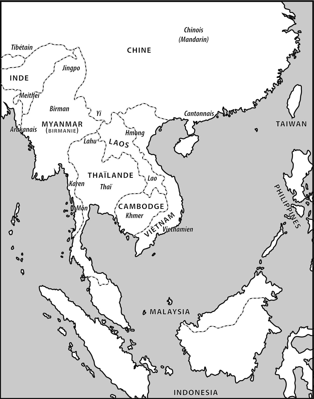 Carte Asie Est Vierge.Aire Linguistique Asie Du Sud Est Continentale Le Birman