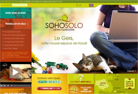 Figure 1. The home page of the SoloSoho portal