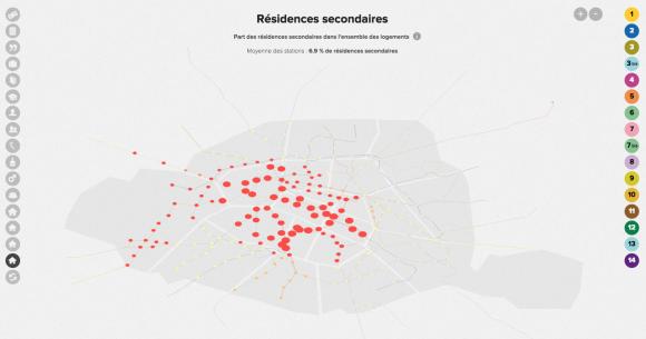 Figure 11 : Carte De Résidences Secondaires à Paris