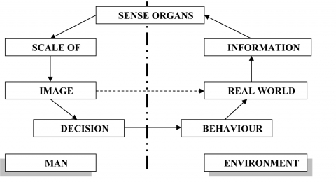 "Figure 1: The model of environment perception according to ""behaviourist revolution"""
