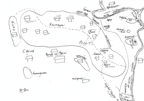 Figure 7 : Dessin du village de TwasalieDrawing of twasalie village