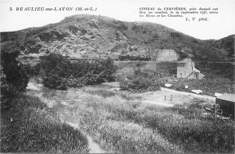 The Layon Hillside and the site of           Pont-Barré