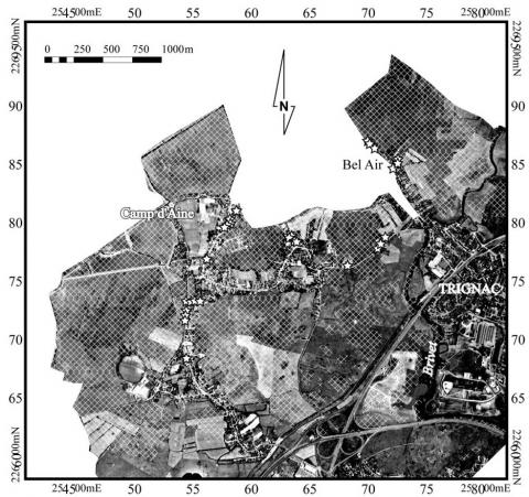 Figure 6 : Inondation de la partie nord de la commune de Trignac en février 2001Floods in the northern part of the Commune of Trignac in February 2001
