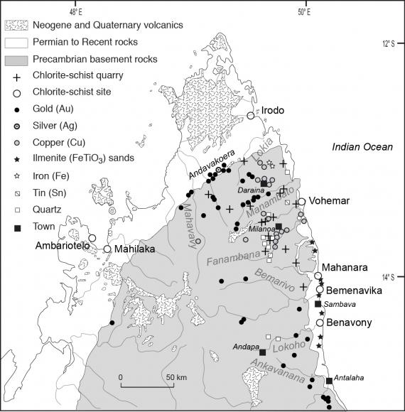 Antalaha Madagascar Carte.The Archaeological Site At Vohemar In A Regional