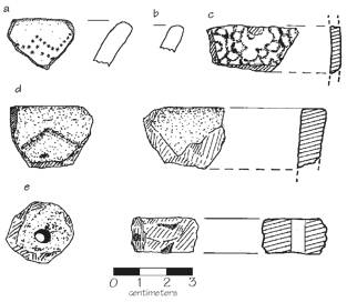 Fig. 7. Artifacts from Site 212 (Tsiatosika) and Site 213 (Ambohitsara)