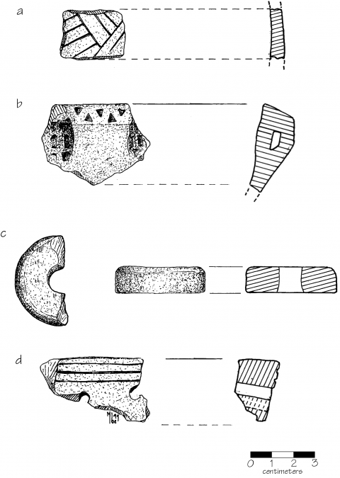 Fig. 21. Site 214A artifacts