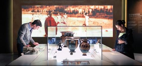Des écrans aux contenus attractifs comme dans la partie consacrée à Olympie au musée Olympique de Lausanne.