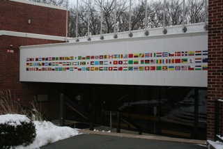 Figure 2: Entrance to the Sachar International Center at Brandeis University.