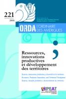 Ressources, innovations productives et développement des territoires