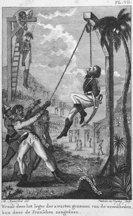 Image 28 : « Revenge taken by the Black Army for the Cruelties practised on them by the French».