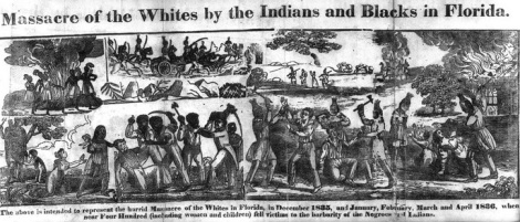 Image 4 : « Massacre of the Whites by the Indians and Blacks in Florida »