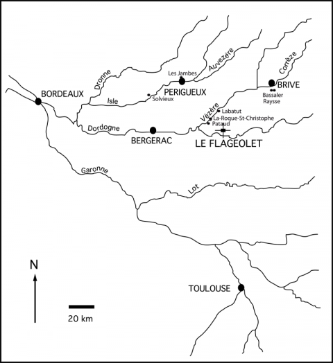 Fig. 2 - Situation géographique du Flageolet IFig. 2 - Geographic location of Le Flageolet I