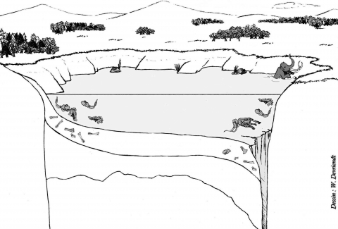 Figure 2 - Hot Springs restitution, ± 26,000 years BP (© W. Devriendt).