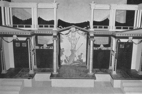 Fig. 2. Reconstruction of a frons scaenae (Beacham, 1992).
